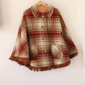 Vintage Wool Cape/ Poncho
